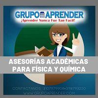ASESORÍAS ACADÉMICAS A DOMICILIO PARA FÍSICA Y QUÍMICA