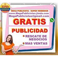 ? GRATIS= Mega Publicidad, Agencia, Publicista, Posicionamiento, Vendedor,  Mercadeo, Marketing, Pag