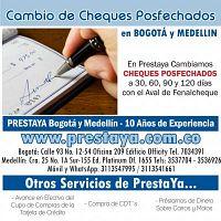 CAMBIO DE CHEQUES POSFECHADOS EN PRESTAYA BOGOTA